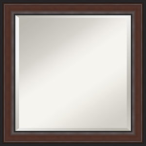 Harvard Walnut 25W X 25H-Inch Bathroom Vanity Wall Mirror