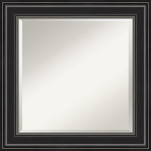 Ridge Black 26W X 26H-Inch Bathroom Vanity Wall Mirror