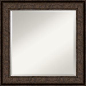 Ridge Bronze 26W X 26H-Inch Bathroom Vanity Wall Mirror
