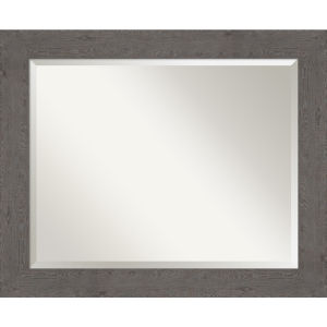 Gray 33W X 27H-Inch Bathroom Vanity Wall Mirror
