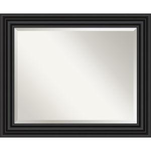 Colonial Black 34W X 28H-Inch Bathroom Vanity Wall Mirror