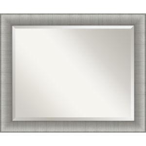 Elegant Pewter 33W X 27H-Inch Bathroom Vanity Wall Mirror