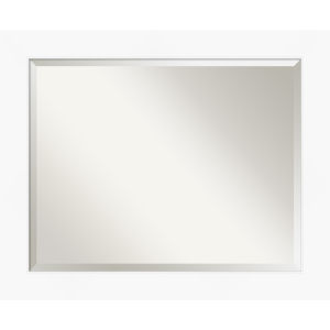 White 33W X 27H-Inch Bathroom Vanity Wall Mirror