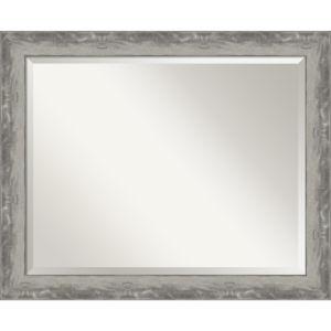 Waveline Silver 32W X 26H-Inch Bathroom Vanity Wall Mirror