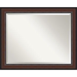 Harvard Walnut 33W X 27H-Inch Bathroom Vanity Wall Mirror