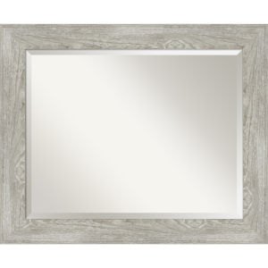 Dove Gray 34W X 28H-Inch Bathroom Vanity Wall Mirror
