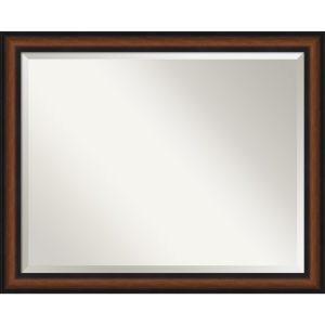 Yale Walnut 31W X 25H-Inch Bathroom Vanity Wall Mirror