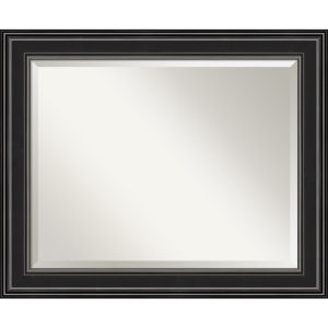 Ridge Black 34W X 28H-Inch Bathroom Vanity Wall Mirror