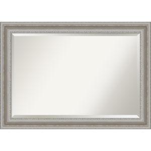 Parlor Silver 42W X 30H-Inch Bathroom Vanity Wall Mirror