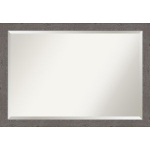 Gray 39W X 27H-Inch Bathroom Vanity Wall Mirror