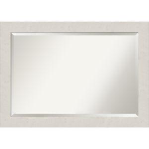 Rustic Plank White 41W X 29H-Inch Bathroom Vanity Wall Mirror
