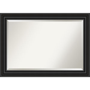 Colonial Black 42W X 30H-Inch Bathroom Vanity Wall Mirror