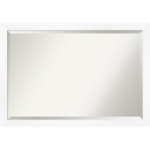 White Frame 39W X 27H-Inch Bathroom Vanity Wall Mirror