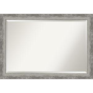 Waveline Silver 40W X 28H-Inch Bathroom Vanity Wall Mirror