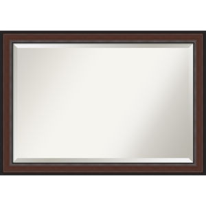Harvard Walnut 41W X 29H-Inch Bathroom Vanity Wall Mirror