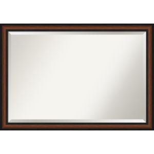 Yale Walnut 39W X 27H-Inch Bathroom Vanity Wall Mirror