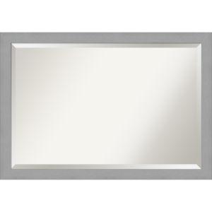 Brushed Nickel 40W X 28H-Inch Bathroom Vanity Wall Mirror