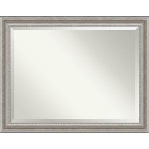 Parlor Silver 46W X 36H-Inch Bathroom Vanity Wall Mirror