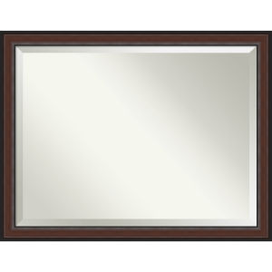 Harvard Walnut 45W X 35H-Inch Bathroom Vanity Wall Mirror