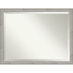 Dove Gray 44W X 34H-Inch Bathroom Vanity Wall Mirror