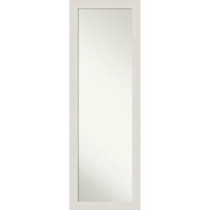 Rustic Plank White 17W X 51H-Inch Full Length Mirror