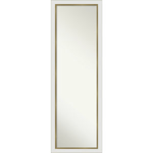 Eva White and Gold 17W X 51H-Inch Full Length Mirror