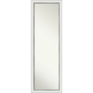 Eva White and Silver 17W X 51H-Inch Full Length Mirror