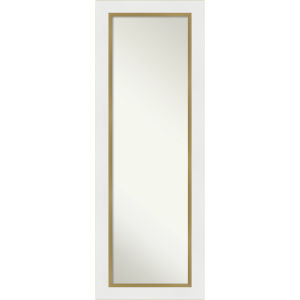 Eva White and Gold 19W X 53H-Inch Full Length Mirror
