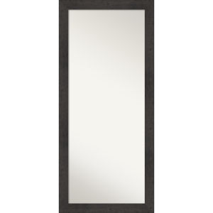 Rustic Espresso 29W X 65H-Inch Full Length Floor Leaner Mirror