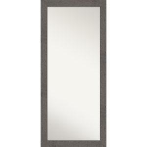Gray 29W X 65H-Inch Full Length Floor Leaner Mirror