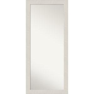 Rustic Plank White 29W X 65H-Inch Full Length Floor Leaner Mirror