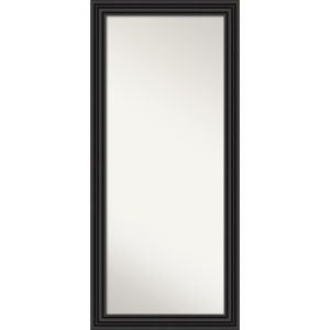 Colonial Black 30W X 66H-Inch Full Length Floor Leaner Mirror