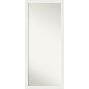White 27W X 63H-Inch Full Length Floor Leaner Mirror