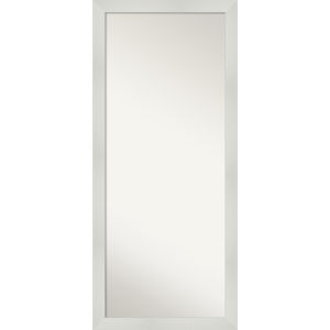 Mosaic White 28W X 64H-Inch Full Length Floor Leaner Mirror