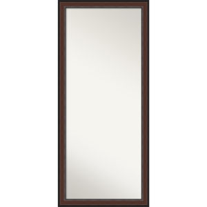 Harvard Walnut 29W X 65H-Inch Full Length Floor Leaner Mirror