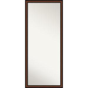 Yale Walnut 27W X 63H-Inch Full Length Floor Leaner Mirror