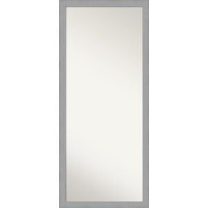 Brushed Nickel 28W X 64H-Inch Full Length Floor Leaner Mirror