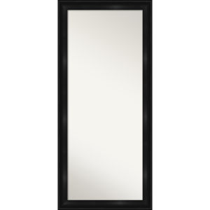 Black 30W X 66H-Inch Full Length Floor Leaner Mirror