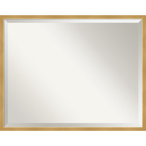 Polished Brass and Gold 29W X 23H-Inch Decorative Wall Mirror