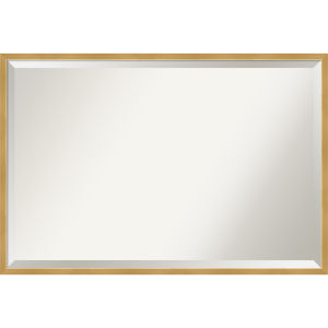 Polished Brass and Gold 37W X 25H-Inch Decorative Wall Mirror