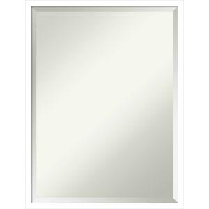 Svelte White 19W X 25H-Inch Decorative Wall Mirror