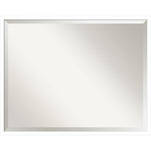 Svelte White 29W X 23H-Inch Decorative Wall Mirror