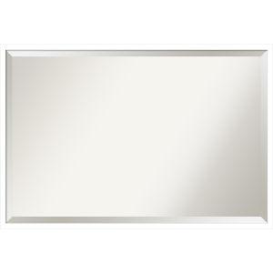 Svelte White 37W X 25H-Inch Decorative Wall Mirror