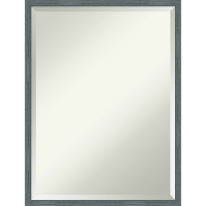 Dixie Blue and Gray 19W X 25H-Inch Decorative Wall Mirror