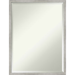 Shiplap White 19W X 25H-Inch Decorative Wall Mirror
