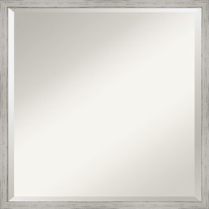 Shiplap White 21W X 21H-Inch Decorative Wall Mirror