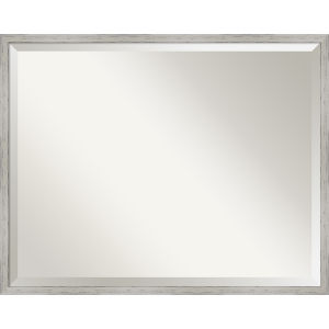 Shiplap White 29W X 23H-Inch Decorative Wall Mirror