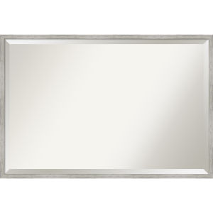 Shiplap White 37W X 25H-Inch Decorative Wall Mirror