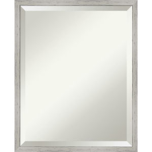 Shiplap White 17W X 21H-Inch Decorative Wall Mirror