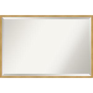 Gold 37W X 25H-Inch Bathroom Vanity Wall Mirror